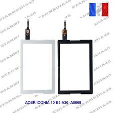 VITRE TACTILE ACER ICONIA ONE 10 B3-A20 A5008 BLANC OU NOIR +ADHESIF ENVOI SUIVI