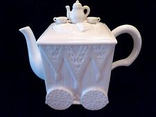 1999 ©LENOX Butler's Pantry TEACART TEAPOT Off White PORCELAIN w/ Label