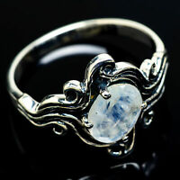 Rainbow Moonstone 925 Sterling Silver Ring Size 8.25 Ana Co Jewelry R8255F