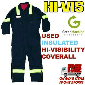 Used Hi-Visiblitity Reflective INSULATED Coveralls Cintas Redkap Unifirst G&K