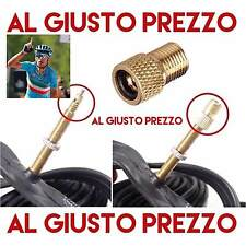 Adattatore per gomme Bici Da Corsa Da PRESTA a valvola adatto per pompa a pedale