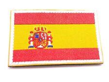 1 Aufnäher Stickerei Flagge Spanien 8x5cm Mit Klettverschluss Insignia Kleidung