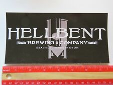 Beer STICKER ~ HELLBENT Brewing Co ~ Seattle, WASHINGTON ** 100s More in STORE +