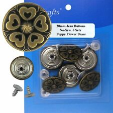 20 mm No-Sew Replacement Jean Tack Buttons (7109B)  6 CT.