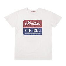 Genuine Indian Motorcycle Men's FTR1200 Logo T-Shirt, White S  #286896602