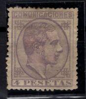 P133285/ SPAIN – ALFONSO XII - EDIFIL # 198 MINT MH – CV 335 $