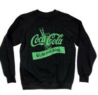 Vintage LEE Coca-Cola Sweatshirt Green Black Women's Made In USA NEW