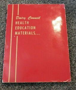 DAIRY COUNCIL HEALTH EDUCATION MATERIALS 1950's Books Posters Flyers MORE!