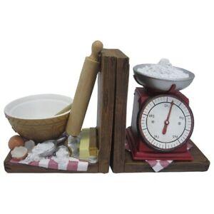 Baking Book Ends Shelf Tidy Kitchen Cookbook Decorative Desk Storage Organiser
