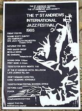 1st St Andrews International Jazz Festival Vintage Original 1985 Poster Scotland
