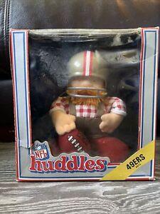"""NFL Huddles San Francisco 49ers 7"""" vintage 1983"""