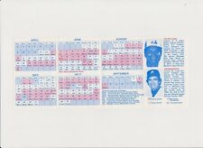 Vintage Official Pocket Schedule - 1978 - CHICKS Southern League - Tim Mccarver