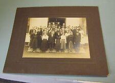 1910 Era Pennsylvania High School Antique Cabinet Card Class Photo Teen Children