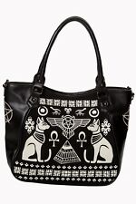 Women's Anubis Cat Symbols Egyptian Gothic Kitty Handbag Bag By Banned Apparel