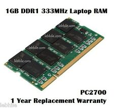 E63 Laptop RAM 1GB DDR1 333MHz PC2700 SODIMM Non-ECC Notebook Memory