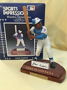 HANK AARON Sports Impressions Miniature YESTERDAY STARS Figurine 1990 in Box