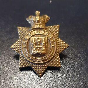Victorian East Surrey Regiment Brass Cap Badge