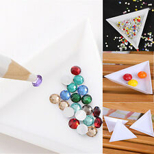 5X Container Holder Triangle Phone / Nail Art / Rhinestones Gems Bead Beauty