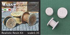 WARS Bobine di legno / Wooden spools 3x kit scala 1/35 - 54 mm