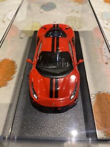 1/43 Looksmart Ferrari 488 Pista Rosso Corsa With Black Stripes