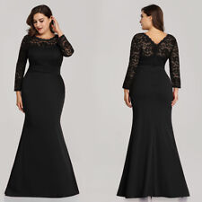 Ever-pretty Plus Long Formal Gowns Black Evening Cocktail Party Prom Dress Maxi
