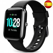Reloj Inteligente Mujer,Smartwatch Hombre Impermeable IP68 Pulsera Negro (Negro)