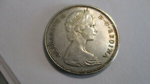#74 Vintage 1966 50 Cents Canada Coin Beautiful!