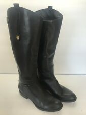 Women's Sam Edelman Penny Tall Black Leather Calf Riding Boots Size 6 M