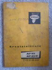 Welger Ballenpresse AP45 + AP45D Ersatzteilliste