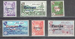 Great Britain.  Herm Island.  1961 Europa complete MNH set.
