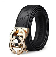 New Men's Belt Genuine Leather Luxury Designer Strap Automatic Buckle Fashion