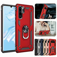 Shockproof Hybrid Magnetic Ring Holder Stand Hard Case Cover For Huawei P30 Pro