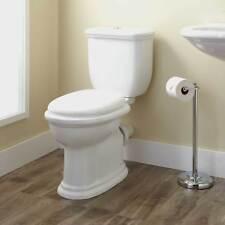 Kennard Dual Flush European Rear Outlet Toilet Two Piece Elongated White