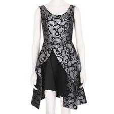 Stella McCartney Exquisite Silver Black Jacquard Sculptured Dress IT36 UK4