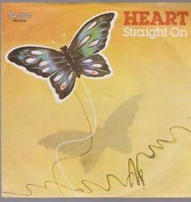 "7"" Heart Straight On / Lighter Touch 70`s CBS Portrait"