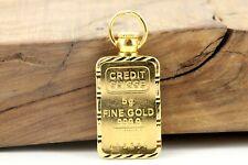 Goldbarren 5g Anhänger Öse 22K 916er Barren 5g 999 Gold Länge 34,5mm 7,76g