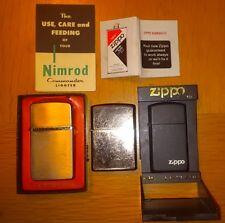 ZIPPO D IX MINI SLIM J III NIMROD COMMANDER LIGHTER LOT Box Manual Matte Black !