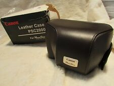 Rare NOS - Canon Fitted Leather Case PSC2000 For PowerShot G2 Digital Cameras