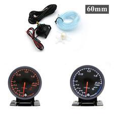 -1~2 Bar 2.5'' 60mm 12V Car Boost Gauge LED Turbo Boost Meter Gauge Black Shell