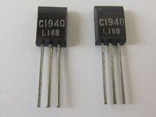 2 Stück - 2SC1940 - NEC NPN Transistor - 120V 0,05A 1W -2SC1940L - 2pcs