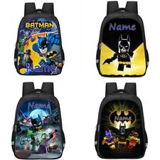 Batman Personalised School Bag Backpack Rucksack Reflective Boys Kids Bday Gift