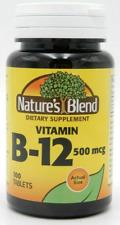NATURE'S BLEND VITAMIN B12 TABLETS 100 TABS 500MCG