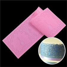 Elegant Lace Peacock Silicone Mold Cake Gum Paste Fondant Edible Sugar Lace