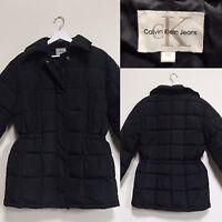 Calvin Klein Coat Black Feather Down Filled Puffer Coat | M UK 12 14 | CK