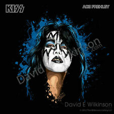 """KISS Ace Frehley """"The Spaceman"""" Art Giclee' by David E. Wilkinson"""