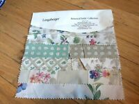 Longaberger Fabric Samples Botanical Fields Collection New