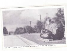 ACE OF HEARTS--TANK WW1--FORT MEADE MARYLAND---POSTCARD