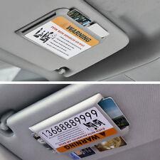 Hot!Car Sun Visor Mini Organizer Hard Plastic Card Storage Holder Sunshade Clip