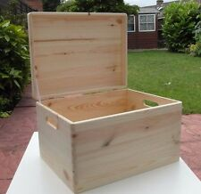 LARGE  WOODEN -WOOD BOX STORGE BOX / DECOUPAGE / ART CRAFTS