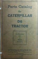 Caterpillar Diesel RD6 Tractor Parts Manual 2H1 to 2H3247 168p Crawler CAT D6